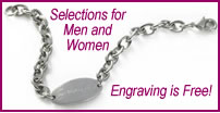 Personalized Jewelry at discounted prices. Selection includes Personalized Mens Jewelry and Personalized Women's Jewelry for all occasions or events.