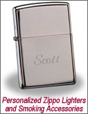 Personalized Zippo Lighters, Cigar Humidors and Smoking Accessories