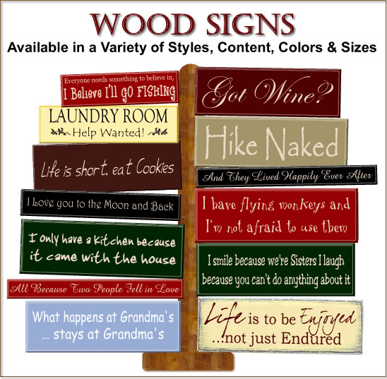 Wood Signs for the Home