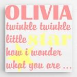 Customized Twinkle Design Scheme Canvas Sign for Girls