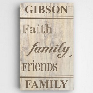Personalized Rustic Wood...