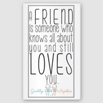 Customized Friends Definition Accented Canvas Sign