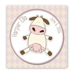 Customized Cow Graphic Design Nursery Canvas Sign