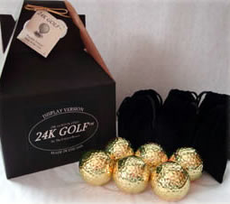 24K Gold Dipped Golf Balls - Six