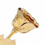 High Detail 12 Inch Gold Dipped Rose - Our highest quality in rose dipped in 24 K gold