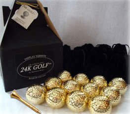 Gold Tone Golf Balls and Tees - Dozen