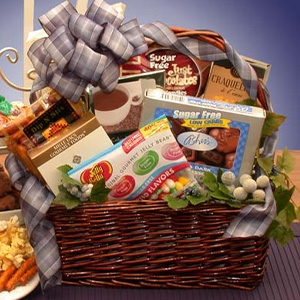 Gourmet Sugar Free Gift Basket - All these yummy treats and sugar free too!