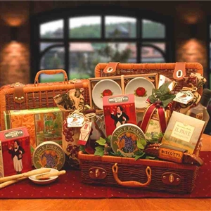 Great Taste of Italy Gift Basket - Suitcase Style Hamper