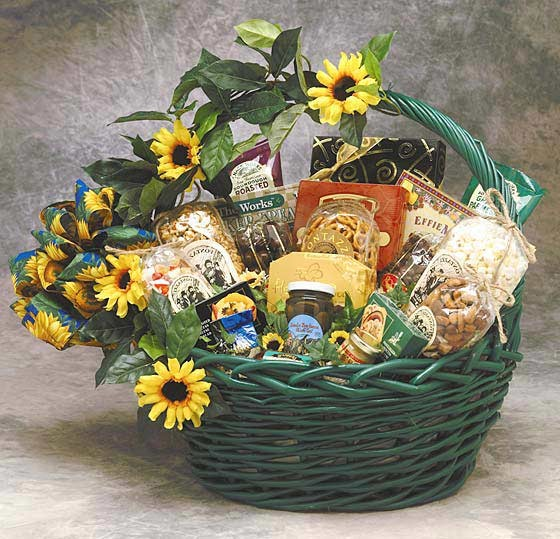 Sunflower Treats Gift Basket Thinking Of You Gifts