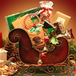 Seasons Greetings Holiday Sleigh Medium - Dashing through the snow to bring a gift to you!