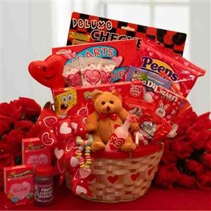 My Little Valentine Childrens Gift Basket