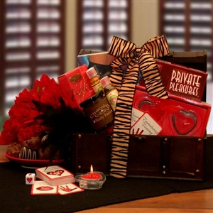 Private Pleasures Gift Chest - Sexy Gift Baskets Gift Baskets and Gourmet Food