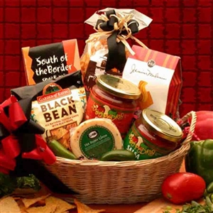 Latin Salsa Gift Basket - Dinner and Soup Gift Baskets and Gourmet Food
