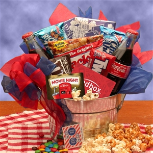 Blockbuster Night Movie Gift Pail - Gift Baskets and Gourmet Food Gift Baskets and Gourmet Food