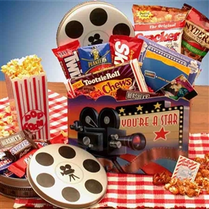 Movie Night Gift Box - Specialty and Theme Gift Baskets and Gourmet Food