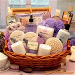The Essence of Lavender Spa Gift Basket - Luxury Healing and Rejuvenating Spa Basket.