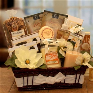 Vanilla Essence Candle Gift Basket - Gift Baskets Gift Baskets and Gourmet Food