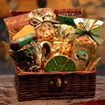 Hunters Retreat Gift Chest - A woodlands themed mug and a collection of gourmet goodies for any hunter.