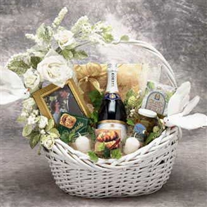Wedding Wishes Gift Basket - Wedding/Anniversary Gift Baskets and Gourmet Food
