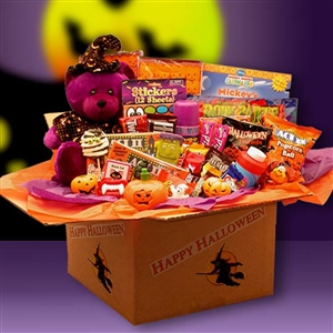 Deluxe Happy Halloween Activities Care Package - Halloween teddy bear, activity toys, and sweets makes this the perfect gift for any spook.
