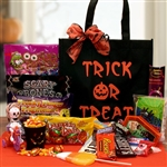Trick Or Treat Halloween Tote Filled with Candy