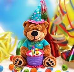 Brownie The Happy Birthday Bear - Send birthday wishes with Brownie the Birthday Bear!