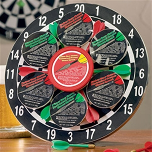 Dartboard and Gourmet Cheese Gifts - Sports Gift Baskets Sports Gifts