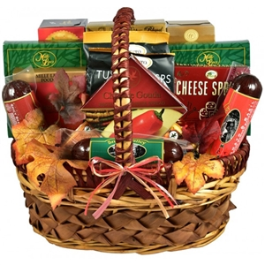 A Cut Above Medium Cheese And Sausage Gift Basket - Dinner and Soup Gift Baskets and Gourmet Food