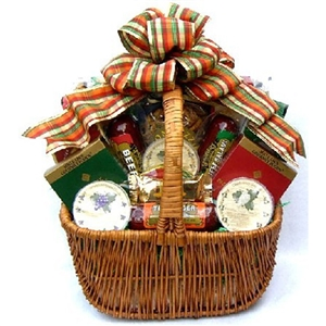 A Cut Above Large Cheese And Sausage Gift Basket - Dinner and Soup Gift Baskets and Gourmet Food