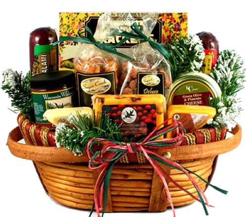 holiday food gift basket: