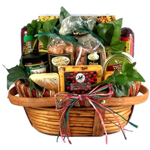 The Midwesterner Cheese And Sausage Gift Basket - Dinner and Soup Gift Baskets and Gourmet Food