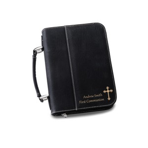 Personalized Faux Leather Small Bible Case with Handle - Personalized Gifts Personalized Gifts