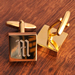 Brass Square Cufflinks