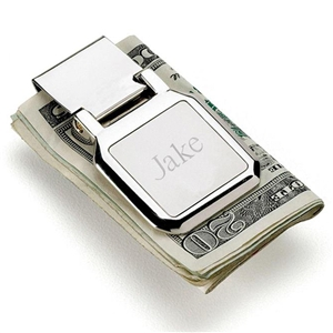 Folding Money Clip with Initial - Personalized Money Clips Personalized Gifts