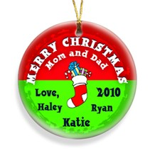 Stocking Red Merry Christmas Personalized Ornament - Christmas Ornaments Christmas Gifts