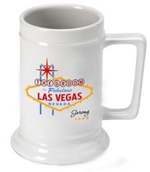 Personalized Vegas Wedding Party Beer Stein