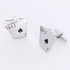 Aces Cufflinks with Personalized Gift Box