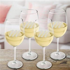 White Wine Set of 4 Personalized Glasses