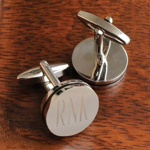 Personalized Pin Stripe Cufflinks - Personalized Cuff Links Personalized Gifts