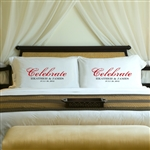 Personalized Celebrate Pillow Case Set