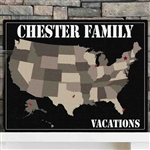 Personalized Americana Family Map