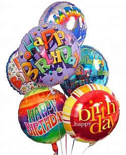Celebrate any occasion with luminous balloons! - Half Dozen Mylar Balloons - Birthday