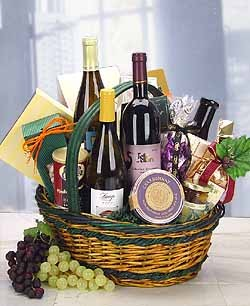 The Vintner Trio of Premium Wines and Gourmet Foods - Wine and Gourmet Gifts Deliver Today