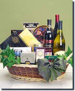 Premier Wine Gift Collection - Gourmet and Wine Basket - Wine and Gourmet Gifts Deliver Today