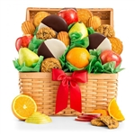 Sweet Indulgence Gift Basket-Delight them with the sweet gift of fresh fruit and decadent cookies!