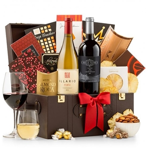 Business Class Selections Wine Gift Basket - Shipped Wine Gift Baskets Wine Gifts