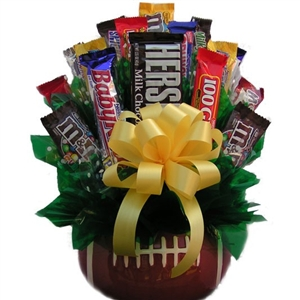 Football Candy Bouquet - Candy Bouquets Gift Baskets and Gourmet Food