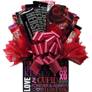 Hugs & Kisses Candy Box Bouquet