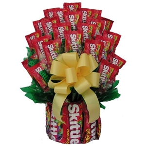 Skittles Candy Bouquet - Candy Bouquets Gift Baskets and Gourmet Food
