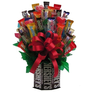 Hersheys & More Candy Bouquet - Candy Bouquets Gift Baskets and Gourmet Food